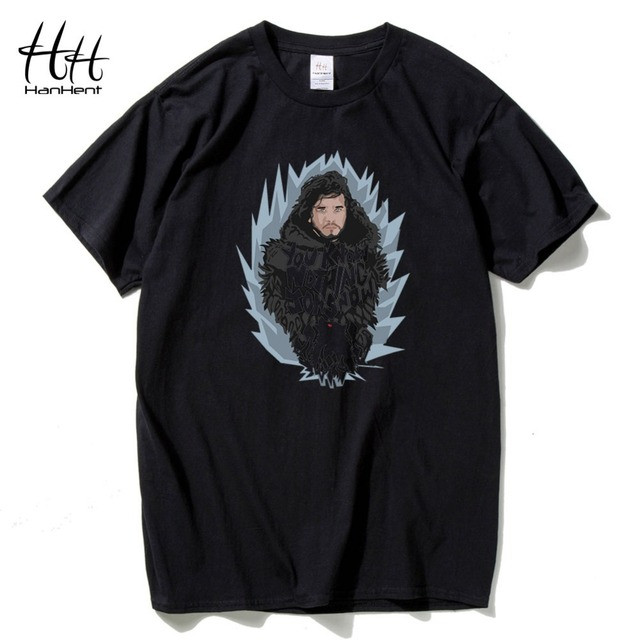 Game Of Thrones Winter Is Coming Jon Snow Print T-shirts For Men