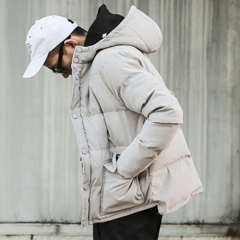 2017 New Winter Men Clothing Outwear Hooded Casual Parkas Jacket  Japan Style Fashion Cool Boy Hooded Thick Parkas Coat  A3351