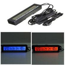 В/out жк-часы напряжения монитор термометр батареи автомобилей цифровой в