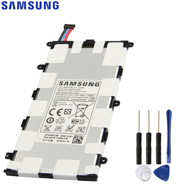 Original Replacement Samsung Battery SP4960C3B For Galaxy Tab 7.0 Plus P6200 P6210 P3110 P3100 GenuineTablet Battery 4000mAhOriginal Replacement Samsung Battery SP4960C3B For Galaxy Tab 7.0 Plus P6200 P6210 P3110 P3100 GenuineTablet Battery 4000mAh