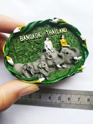 Thailand Bangkok Souvenir Fridge Magnet in Fridge Magnets from Home Garden