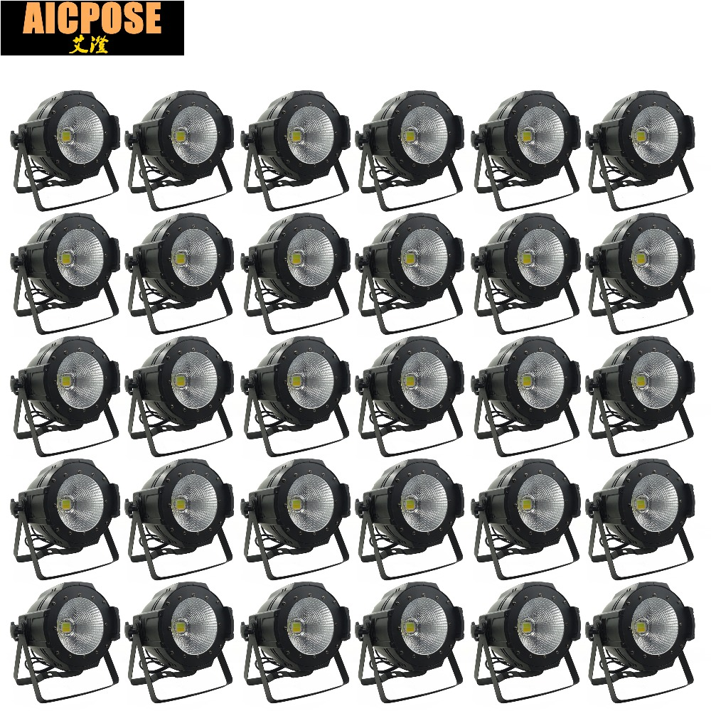 30units LED Par  COB Light 100W High Power Aluminium DJ DMX Led Beam Wash Strobe Effect Stage Lighting,Cool White and Warm White china stage lighting supplier 100w warm white yellow color aluminum indoor led par light cob lamp source strobe effect projector