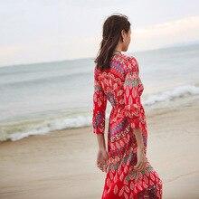 فستان ميدي  كجوال راقي بطباعة أوراق