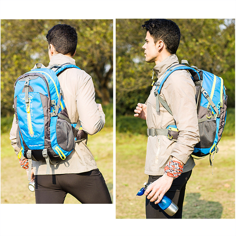 Men Women Sports Bag 40L Climbiing Backpack Summer Outdoor Camping Backpack Casual Couple Hiking Travel Backpacks in Climbing Bags from Sports Entertainment