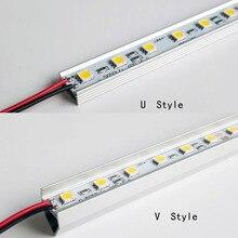 50cm 36 SMD 5050 Hard Rigid Led Strip Bar Light 12V DC For Cabinet Bar Caravan Show Case 10pcs/lot