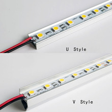 Rigid Aluminum Led Strip Light Ultra Bright 12V DC 50cm SMD5050 36-SMD For Cabinet Light Bar/Caravan/Boat with aluminum housing 2pc 50cm led bar light 42leds 2835 smd ultra thin lamp indoor light seamless connecting rigid led strip kitchen bookcase cabinet