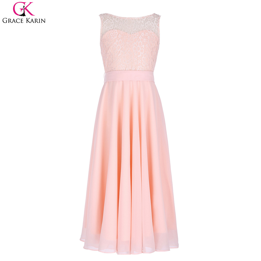 Pale Pink Chiffon Flower Girl Dresses Fashion Dresses
