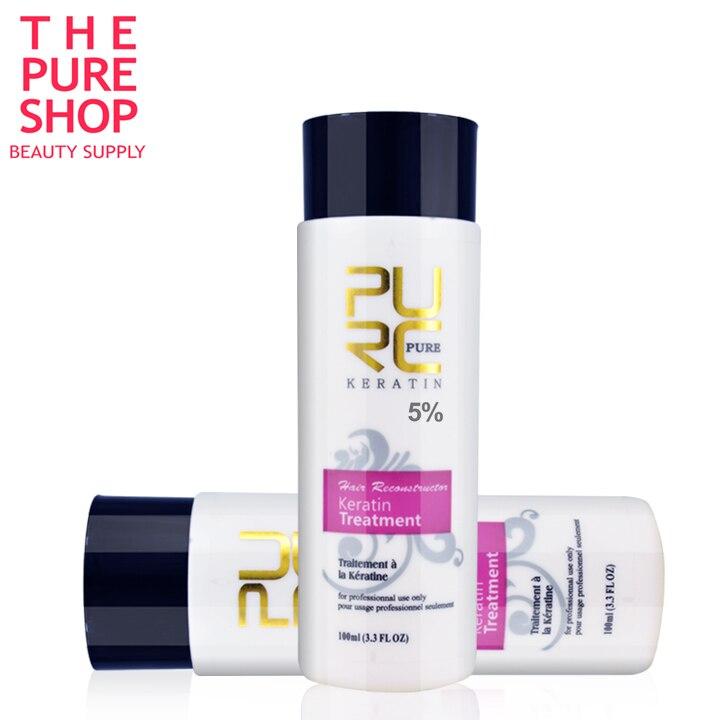 Keratin smoothing treatment 2 bottle 100ml 5% formalin keratin hair treatment 2018 hot sale hair care product free shpping 11.11 keratin smoothing treatment 12