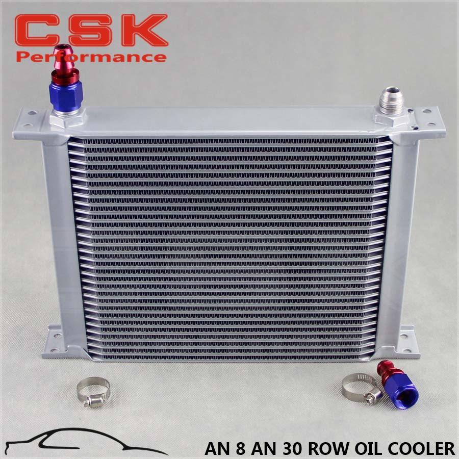 An8 8an an 8 45 degree reusable swivel ptfe hose end - 2 30 Row Engine Aluminium 8an Oil Cooler An8 Fitting Hose End
