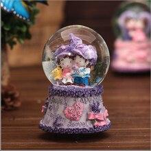 Crystal ball rotating music box music box