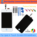 LL TRADER White/Black Hot Sell Good Quality Touch Screen for Apple ipod 4 gen 4g Lcd Display Digitizer with Frame and Free Tools