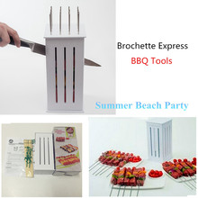 Meat Skewer Machine Brochette grill Express bbq brochette kebab maker spiedini arrosticini maker bbq accessories with16 Skewers