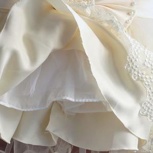 Image 5 - Baby Mädchen Kleid Für Party Prinzessin Spitze Perle Säuglings Taufe Kleid 1 Jahr Geburtstag Kleider Weihnachten Baby Kleidung