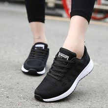 Sneakers Shoes Woman Sport Shoe Lace-Up Mesh Round Cross Str