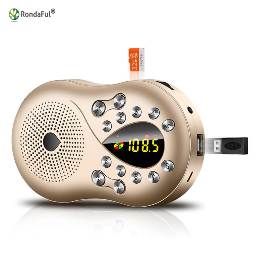 Stereo Receiver Portable MP3 Speaker Music Player TF Card USB Radio Kits Digital for Olders Column Receptor