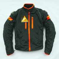 Free Shipping 2013 New Cool PU Professional Motorcycle Racing Jacket Motocross Jacket With Protection Black Color