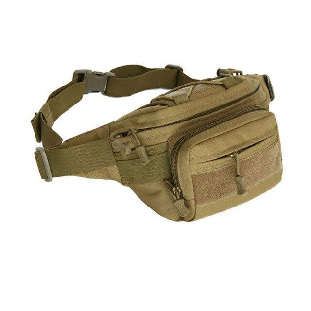 87328fb192 Tactical Sports Bag Men 1000D Nylon Travel Riding Motorcycle Hip Bum Belt  Fanny Pack Waterproof Hiking Fishing Hunting Waist Bag