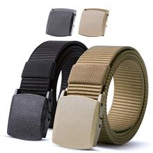 FEECOLOR Nylon Military Tactical Men Belt 2 Pack Webbing Canvas Outdoor Web Belt With Plastic Buckle цена