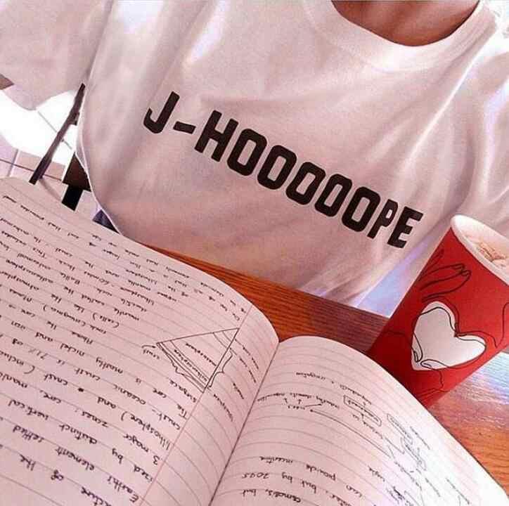 BTS J-HOOOOOPE JHOPE TShirt Women Kpop Fashion Tee Short Sleeve Tumblr  Woman Graphic Tops Casual Letter Print Clothes Drop Ship