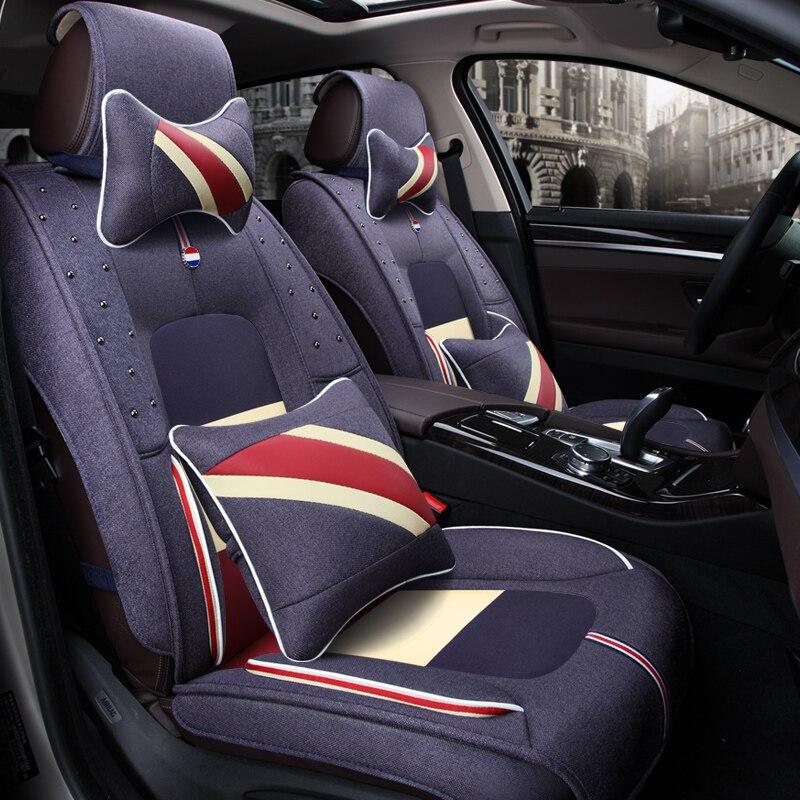 3D Car Seat Cover General Cushion Fiber hemp Car Styling For Audi A1 A3 A4 A6 A7 A8 Q3 Q5 Q7