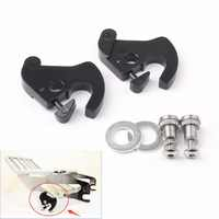 Areyourshop Detachable Rotary Sissy Bar Luggage Rack Docking Latch Clip Kit for Harley Touring 1Set Hottest Motorcycle Covers