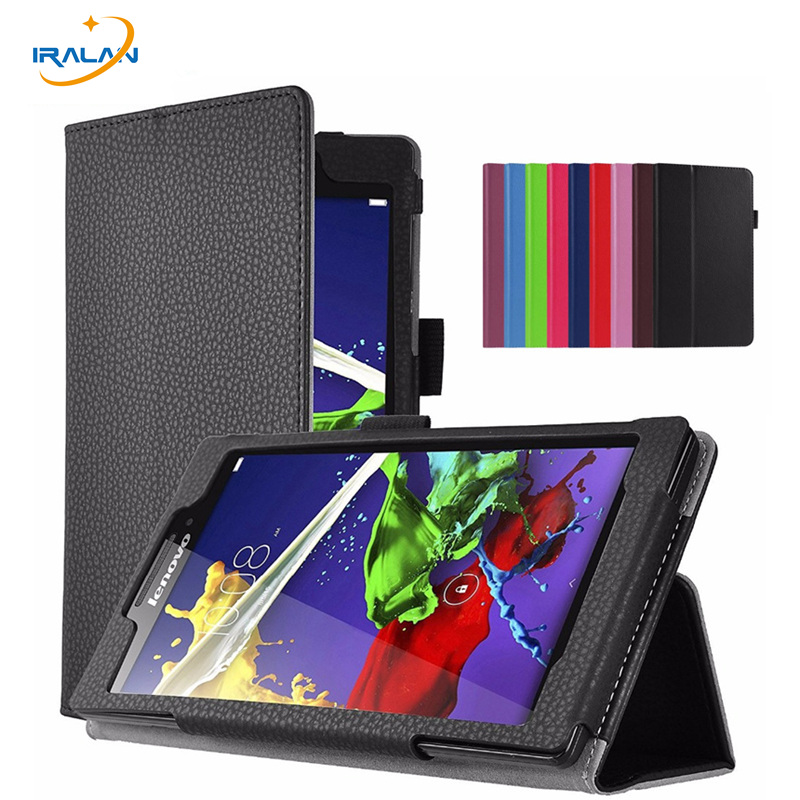 Litchi Stand Protective Folio Case For Lenovo Tab 3 8 TB3-850F TB3-850M TB3-850X 8.0 inch PU Leather Tablet PC Cover+screen+pen for lenovo tab 2 a7 30 2015 tablet pc protective leather stand flip case cover for lenovo a7 30 screen protector stylus pen