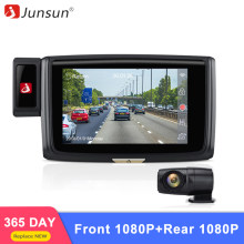 Junsun ด้านหน้า 1080 P + Rear1080P 60fps รถ DVR กล้อง ADAS WIFI HD Night Vision Dash Cam (China)