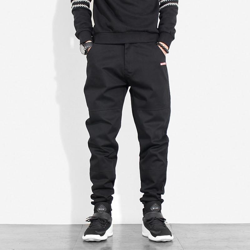 Japanese Style Vintage Men Jeans Slack Bottom Casual Cargo Pants Harem Trousers Fashion Streetwear Hip Hop Pants Men Joggers