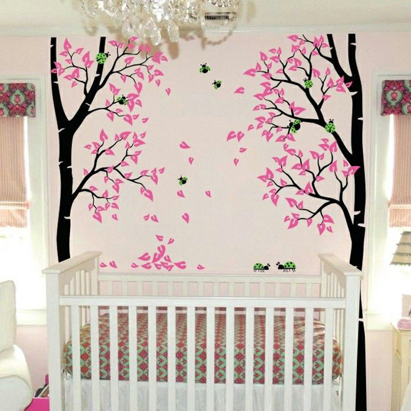 Online buy wholesale ladybug wall decals from china for Diy tree mural nursery
