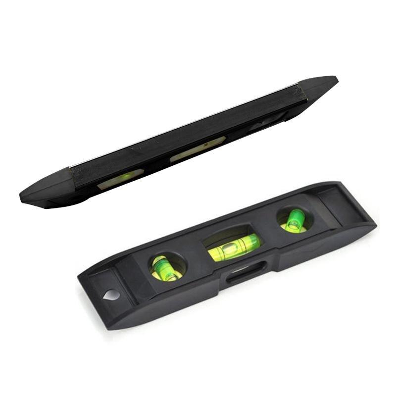 STARTORQUE 0-230mm Vertical Ruler Magnet Bubble Plumber Black plastic Spirit level Leveler Torpedo ruler water level meter