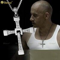 Bahamut Big Size Fast And Furious 6 Dominic Toretto S Cross Necklace Pendant Vin Diesel Titanium