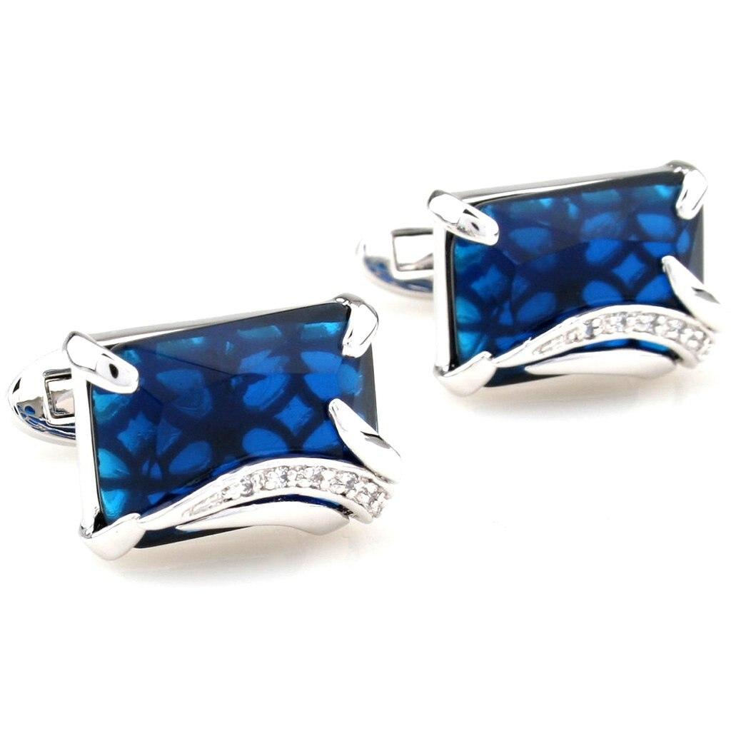 Cufflinks Retail Zircon series male silver blue gold brown cufflinks nail sleeve 2500016 free shipping+free gift box стоимость