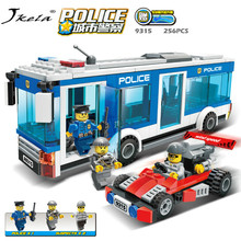цена на [hot] Police Station Prison Figures Model Building Blocks Playmobil Blocks Bricks Educational Toys Compatible Legoingly Police