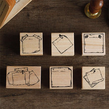 Vintage Note series wood stamp DIY craft wooden rubber stamps for scrapbooking stationery scrapbooking standard stamp lychee vintage wood box rubber stamps wooden scrapbooking standard stamp diy craft stamps decoration for handmade gift