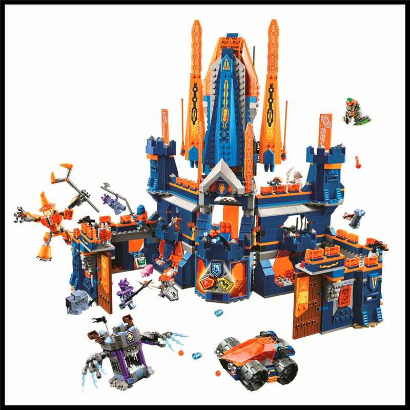 1468Pcs Nexo Knights Knighton Castle Model Building Block Toys BELA 10706 Figure Gift For Children Compatible Legoe 70357 недорого