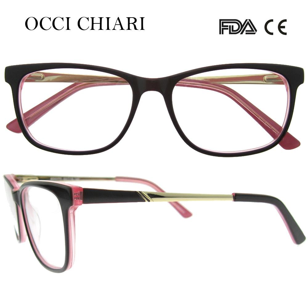 c8f2ad7e7c6 OCCI CHIARI 2018 Retro Fashion Acetate Women Optical Eye Glasses Full Rim  Frames Clear Lens Myopia Eyeglasses Eyewear W CANNI-in Eyewear Frames from  Women s ...