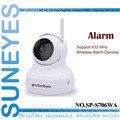 SP-S706WA SunEyes 720 P HD Câmera IP Sem Fio Wi-fi Pan/Tilt Dois Way Áudio P2P Plug And Play IR Night Suporte 433 HZ Alarme dispositivos