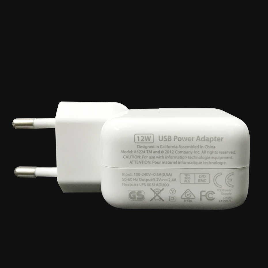 2.4A Cepat Pengisian 12W USB Power Adaptor Ponsel Perjalanan Rumah Charger untuk iPhone X 8 PLUS 7 6S S 5 Ipad Mini Udara Samsung Euro Uni Eropa