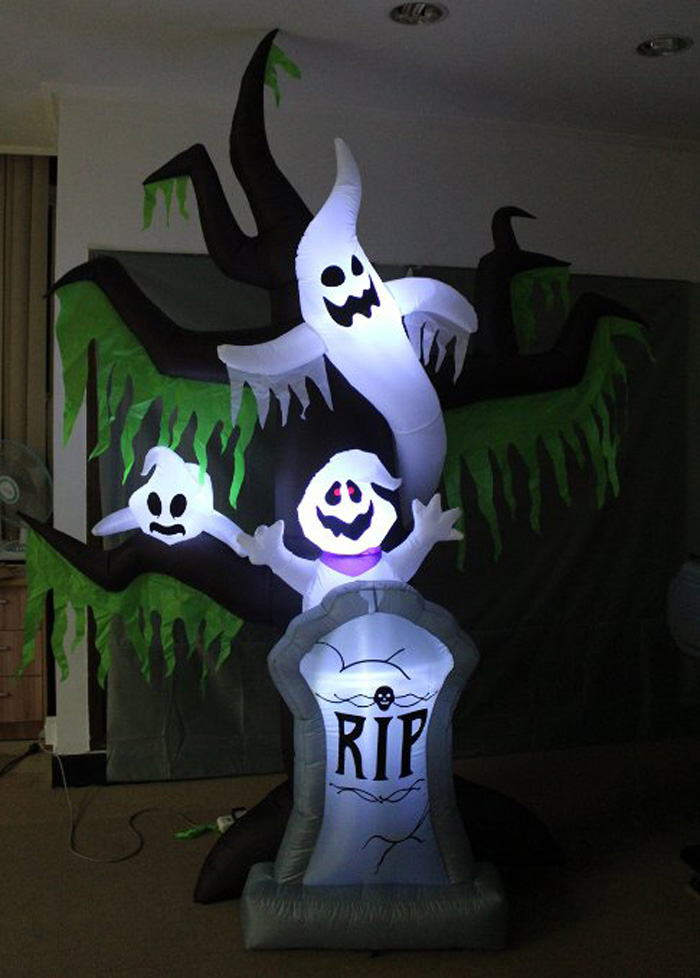 Led Lighting Halloween Decoration Inflatable Grave Scene