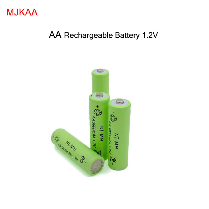 4pc a lot Ni-MH 3800mAh AA Batteries 1.2V AA Rechargeable Battery NI-MH battery for camera,toys