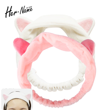New fashtion Soft Headband Women Wash Shower Cap Elastic Hair Band Headband Makeup SPA Bathing Stretch Hairband Band Accessories