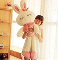 120CM Girl's Lovely Cute Plush Doll Toy Stuffed Animal Rabbit Pillow Quality Bolster Britherday Gift