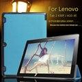 """Couro caso capa funda para lenovo tab 2 a10-30 10.1 """"tablet para lenovo tab 2 x30f pu capa de couro + film + pen"""