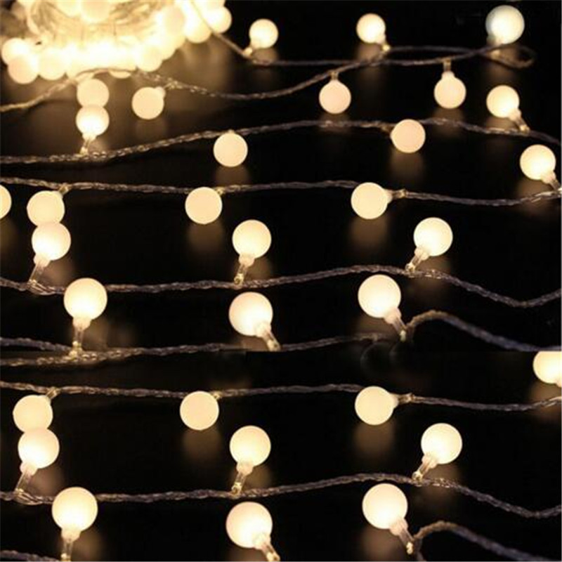 AC220V 10M 80Led Cherry Balls Fairy String Decorative Lights Wedding Christmas Outdoor P ...