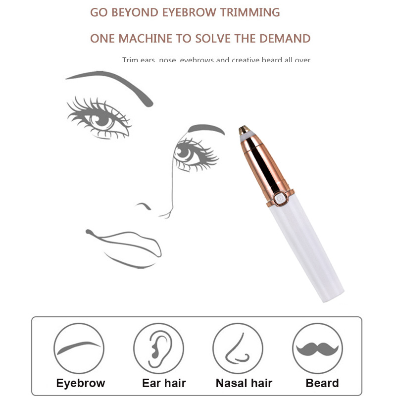 Portable Electric Painless Eyebrow Epilator Trimmer For Women Lipstick Eye Brow Epilator Pen Face Hair Remover Shaver Razor 9