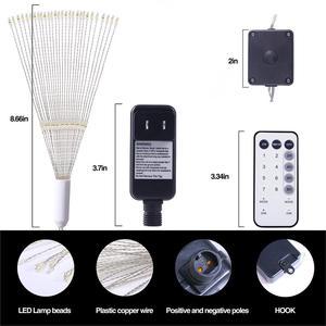 Image 4 - VNL guirlande lumineuse explosive en fil de cuivre, luminaire suspendu avec télécommande, guirlande féerique, pour chambre à coucher, jardin, mariage