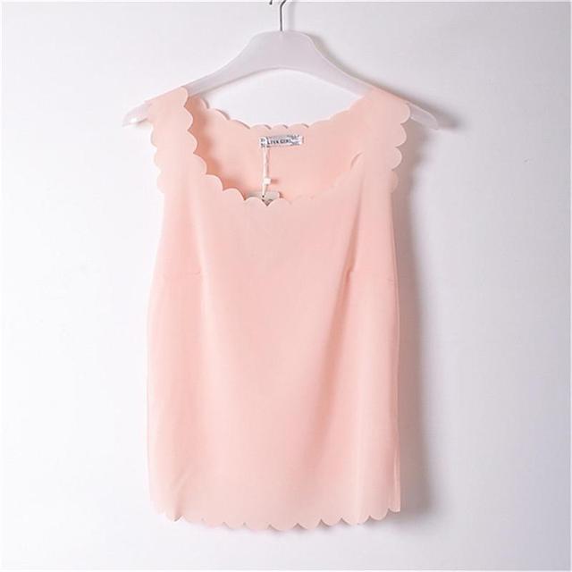 575905eb74833 Blouse 2016 Summer New Lady Chiffon Shirt Camisa Women Tops Girls Light  Pink Shirt