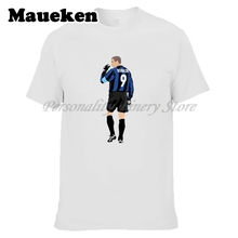 Men Ronaldo Luiz Nazario De Lima #9 period inter milan Legend Brazil T-shirt Clothes T Shirt Men's o-neck tee W17072502