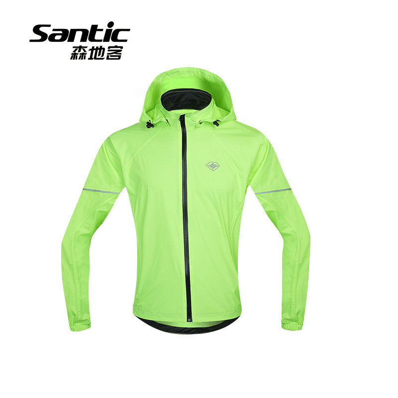 Santic Pro Cycling Jacket Waterproof Raincoat SPF30+ Breathable Hooded MTB Road Bike Rain Jacket Men Bicycle Jacket Clothing 2016 newest rainproof santic cycling jacket multi function bicycle jerseys windproof breathable mtb bike clothing raincoat