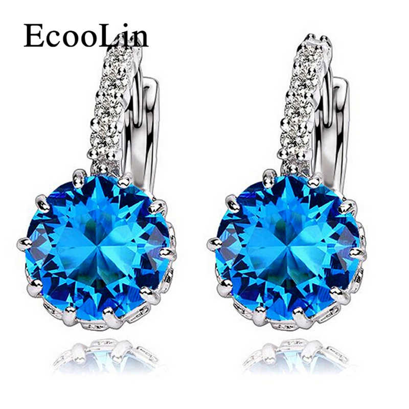 Women Earring Fashion AAA CZ Zircon Element Stud Earrings For Women Wholesale Chea Factory Price
